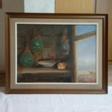 Varios objetos de Arte: CARMEN G. GRAN BODEGÓN ORIGINAL FIRMADO ENMARCADO. Lote 164929610