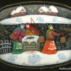 Varios objetos de Arte: 16.J.CAJA RUSA LACADA - ESCUELAS DE PINTURA: PALEJ;FEDÓSKINO;JOLUY:MSTIORA. Lote 101069371