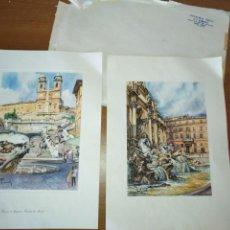 Varios objetos de Arte: REPRODUCCIÓN ANNA RAIMONDI IMPRESA COMPRADO EN ITALIA. Lote 165526894