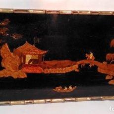 Varios objetos de Arte: CUADRO ORIENTAL LACADO-. Lote 165656082