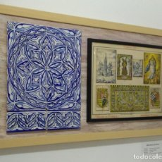 Varios objetos de Arte: RETABLO CERÁMICO CON LITOGRAFÍA. TRIANA. Lote 166134534