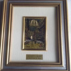 Varios objetos de Arte: CUADRO PEQUEÑO PINTADO A MANO SOBRE PAN DE ORO. Lote 166493314