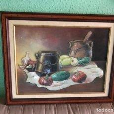 Varios objetos de Arte: CUADRO BODEGÓN ESMALTADO. Lote 166675186