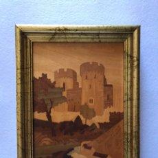 Varios objetos de Arte: CUADRO. PLACA DE MADERA DE MARQUETERÍA VINTAGE CON INCRUSTACIONES . LONDRES. A. SALZANO.. Lote 166792541