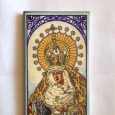 Varios objetos de Arte: SEMANA SANTA SEVILLA. PRECIOSO AZULEJO DE LA VIRGEN DE LAS MERCEDES. HERMANDAD DE SANTA GENOVEVA.. Lote 167462788