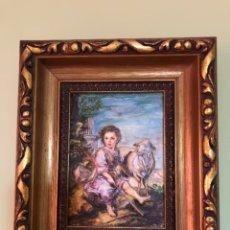 Varios objetos de Arte: CUADRO ANTIGUO, LÁMINA EN MADERA. CON RELIEVE. MARCO ANTIGUO. Lote 167520368