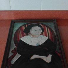 Varios objetos de Arte: CUADRO MARCADO POR DETRÁS GIRL IN BLACK DRESS ANDRE DERAIN STUDY 1914 D.W. MAY 88. Lote 167568432