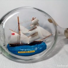 Varios objetos de Arte: BARCO EN BOTELLA - LADY MAY, SLAVER - (26 CM) - MADE IN ENGLAND. Lote 167724108