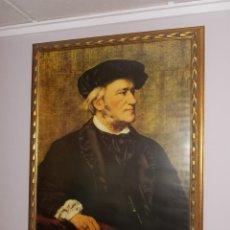 Varios objetos de Arte: CUADRO GRANDE PERSONAJE DE LAMINA ENMARCADO CON CRISTAL. Lote 167785856