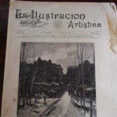 Varios objetos de Arte: LA ILUSTRACIÓN ARTÍSTICA. AÑO XIX. BARCELONA, 1 DE DICIEMBRE DE 1902. Nº 1092. IV CENT. UNIV VALENCI. Lote 168072552