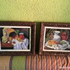 Varios objetos de Arte: 2 CUADROS ESMALTADOS. Lote 168593188
