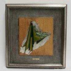 Varios objetos de Arte: C-823. CUADRO EN METAL ESMALTADO AL FUEGO. FIRMADO M.LL.RECASENS. S.XX.. Lote 168595780