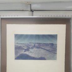 Varios objetos de Arte: AGUAFUERTE TITULADO DUNAS (NOV 1975) DE JOAQUÍN PACHECO (MADRID 1934). ESCUELA DE MADRID.. Lote 168673238