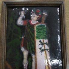 Varios objetos de Arte: ANTIGUO ESMALTE AL FUEGO JAUN ZURIA SEÑOR DE BIZKAIA ESCUDO DE VIZCAYA BIZKAIA GUDARI PAIS VASCO. Lote 168727102