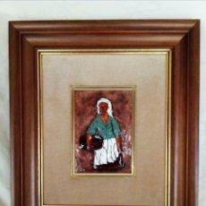 Varios objetos de Arte: ESMALTE AL FUEGO SOBRE COBRE ENMARCADO. . Lote 169083552