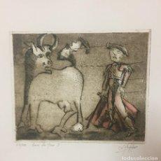Varios objetos de Arte: AMOR DE TORO 1 (GRABADO23/500). Lote 169602884