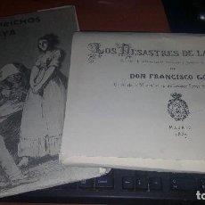 Varios objetos de Arte: LOS CAPRICHOS Y LOS DESASTRES DE LA GUERRA DE GOYA, CARPETILLAS CON 80 LAMINAS CADA UNA, 24 X 17 CM.. Lote 169938640