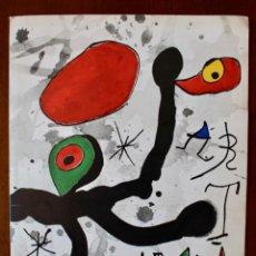 Varios objetos de Arte: REPRODUCCION DIBUJO INEDITO- JOAN MIRÓ- FELICITACIÓN NAVIDEÑA JOAN.B CERDÓS- 1972. Lote 169981668