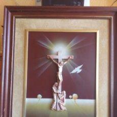 Varios objetos de Arte: CUADRO CRUCIFIJO CRISTO. Lote 170090917