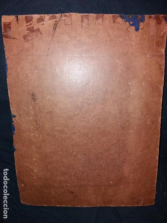 Varios objetos de Arte: LLEVATA REQUENA CUADRO ARTE PIROGRABADO RETRATO HOMBRE DESCONOZCO QUIEN ES UNICO - Foto 5 - 170228880