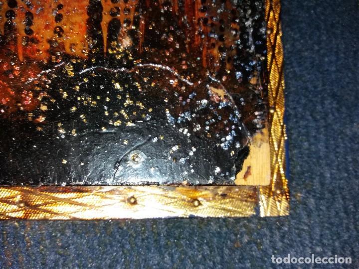 Varios objetos de Arte: LLEVATA REQUENA CUADRO ARTE PIROGRABADO RETRATO HOMBRE DESCONOZCO QUIEN ES UNICO - Foto 6 - 170228880