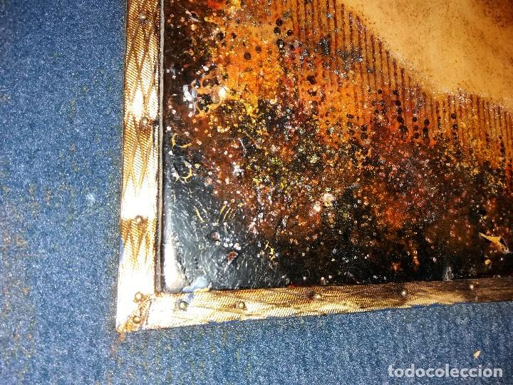 Varios objetos de Arte: LLEVATA REQUENA CUADRO ARTE PIROGRABADO RETRATO HOMBRE DESCONOZCO QUIEN ES UNICO - Foto 7 - 170228880