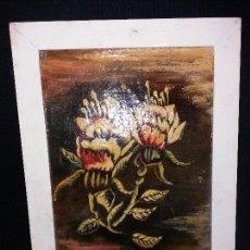 Varios objetos de Arte: M.TORRES CUADRO FLORES OLEO LIENZO SOBRE TABLA PLASTIFICADO .DESCONOZCO TECNICA . Lote 170230960