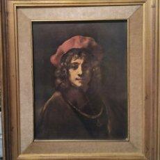 Varios objetos de Arte: IMPRESIÓN ÓLEO XIX. Lote 170351546
