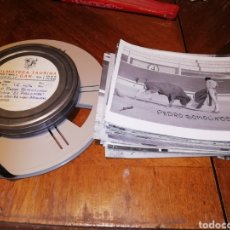 Varios objetos de Arte: TORERO PEDRO SOMOLINOS 79 FOTOS Y DOS PELÍCULAS 16MM. Lote 170416984