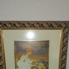 Arte: CUADRO VINTAGE DE POSTER CICLES ACCESSORIES GRAFFITAS. Lote 170866232