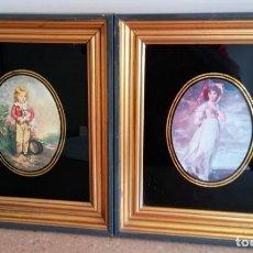 Varios objetos de Arte: DOS CUADROS MUY ANTIGUOS CON BUEN MARCO. Lote 170936720