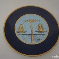 Arte: PLATO PORCELANA CREADA POR SALVADOR DALI CON TIRADA 5000 EJEMPLARES HOROSCOPO LIBRA. Lote 171064163