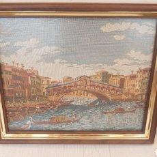 Varios objetos de Arte: TAPIZ ENMARCADO VENECIA. Lote 171242125