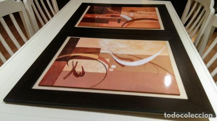 Varios objetos de Arte: 2 CUADROS ABSTRACTOS. IMPRESION PLACAS DE MADERA - Foto 2 - 171281075