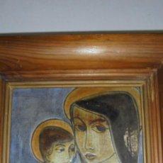 Varios objetos de Arte: (M) ANTIGUA CERAMICA PINTADA AL FUEGO FIRMADA SANT VICENS + TAMPON + ANAGRAMA - 20X20 CM. CERAMICA . Lote 171343179
