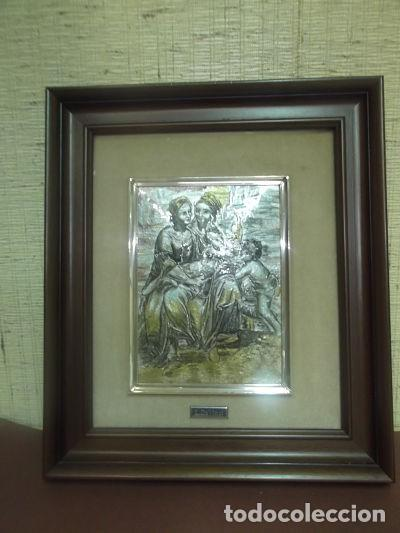 Varios objetos de Arte: Cuadro en esmalte titulado: Santa Ana,la virgen,el niño y san Juan - Foto 2 - 171442457