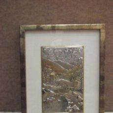 Varios objetos de Arte: CUADRO DE PLATA EN RELIEVE DE UN PAISAJE. Lote 171445134