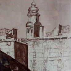 Varios objetos de Arte: CUADRO CON PLUMILLA O LÁMINA. TALLER ESTAMPACIÓN GRANADA.. Lote 171549707