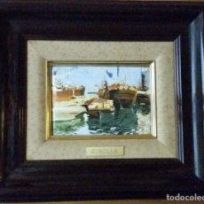 Varios objetos de Arte: CUADRO ESMALTE SOROLLA. Lote 171704233