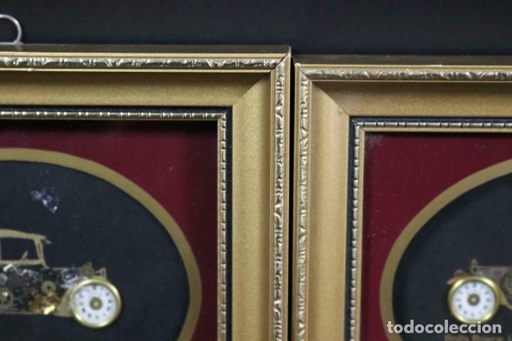Varios objetos de Arte: MAGNIFICOS COLLAGES ANTIGUOS AUTOS DE ÉPOCA REALIZADOS CON ENGRANAJES RELOJ FIRMADOS 197,00 € - Foto 3 - 171772383
