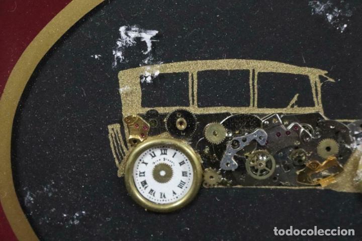 Varios objetos de Arte: MAGNIFICOS COLLAGES ANTIGUOS AUTOS DE ÉPOCA REALIZADOS CON ENGRANAJES RELOJ FIRMADOS 197,00 € - Foto 5 - 171772383