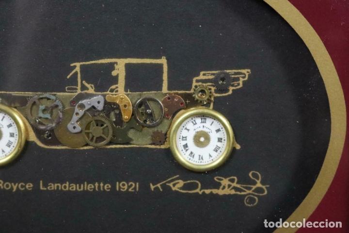 Varios objetos de Arte: MAGNIFICOS COLLAGES ANTIGUOS AUTOS DE ÉPOCA REALIZADOS CON ENGRANAJES RELOJ FIRMADOS 197,00 € - Foto 6 - 171772383
