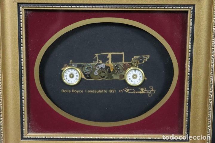 Varios objetos de Arte: MAGNIFICOS COLLAGES ANTIGUOS AUTOS DE ÉPOCA REALIZADOS CON ENGRANAJES RELOJ FIRMADOS 197,00 € - Foto 9 - 171772383