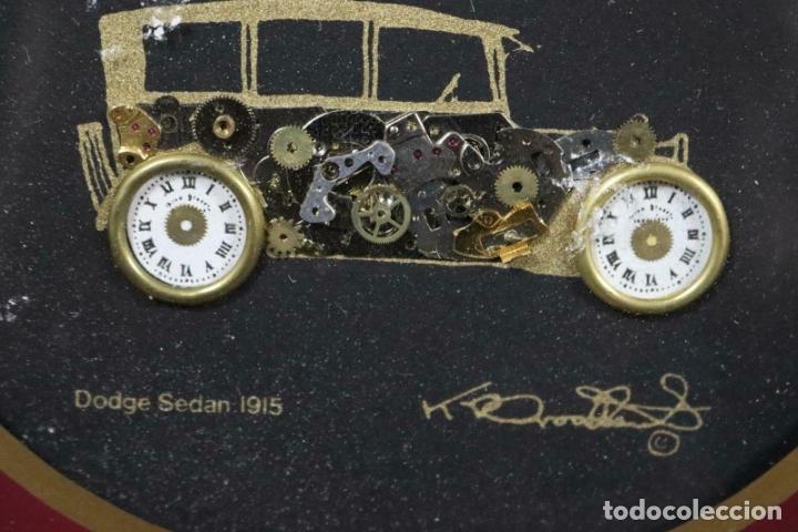 Varios objetos de Arte: MAGNIFICOS COLLAGES ANTIGUOS AUTOS DE ÉPOCA REALIZADOS CON ENGRANAJES RELOJ FIRMADOS 197,00 € - Foto 12 - 171772383
