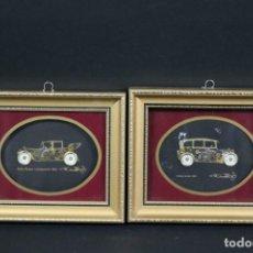 Varios objetos de Arte: MAGNIFICOS COLLAGES ANTIGUOS AUTOS DE ÉPOCA REALIZADOS CON ENGRANAJES RELOJ FIRMADOS 197,00 €. Lote 171772383