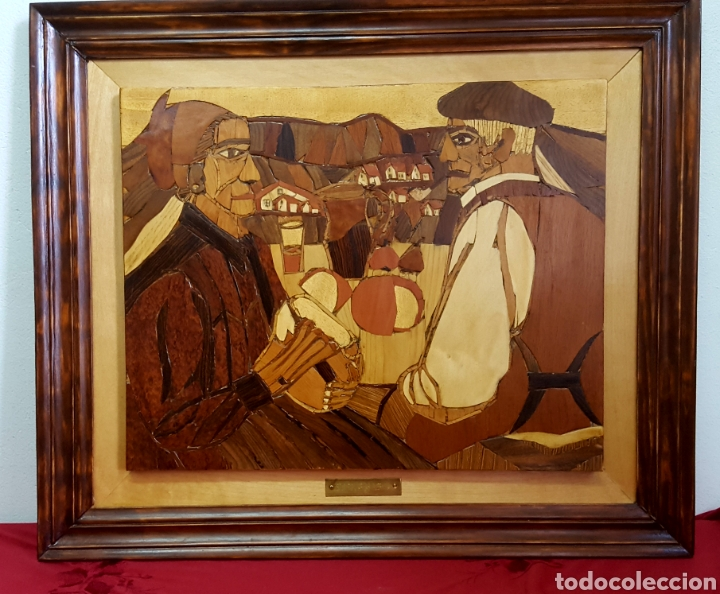 PLAFÓN EN MARQUETERIA DEL GUERNICA POR EOLO FRANCISCO GIL ARMAS (Arte - Varios Objetos de Arte)