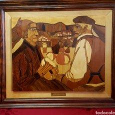 Varios objetos de Arte: PLAFÓN EN MARQUETERIA DEL GUERNICA POR EOLO FRANCISCO GIL ARMAS. Lote 171772457