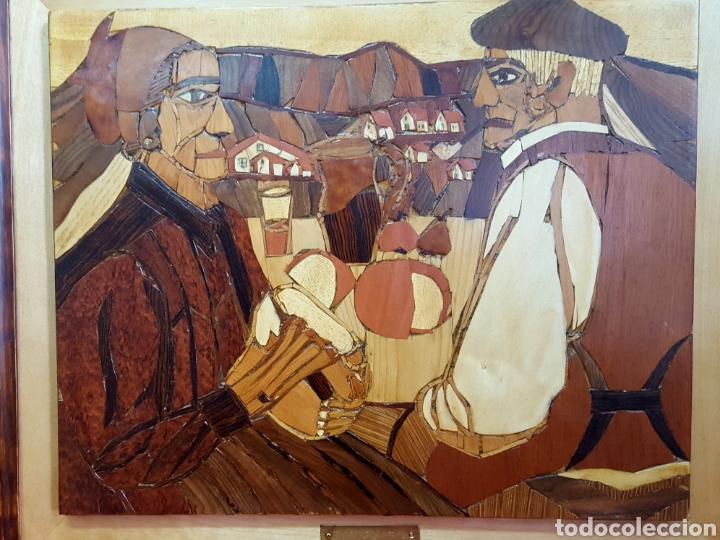 Varios objetos de Arte: PLAFÓN EN MARQUETERIA DEL GUERNICA POR EOLO FRANCISCO GIL ARMAS - Foto 2 - 171772457
