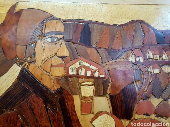 Varios objetos de Arte: PLAFÓN EN MARQUETERIA DEL GUERNICA POR EOLO FRANCISCO GIL ARMAS - Foto 4 - 171772457