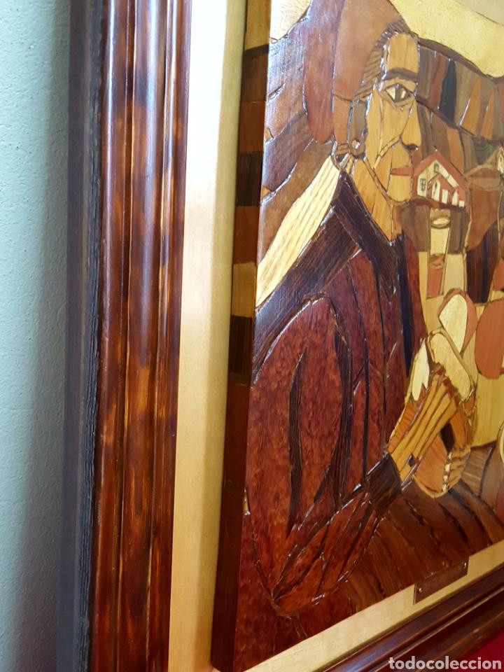 Varios objetos de Arte: PLAFÓN EN MARQUETERIA DEL GUERNICA POR EOLO FRANCISCO GIL ARMAS - Foto 5 - 171772457
